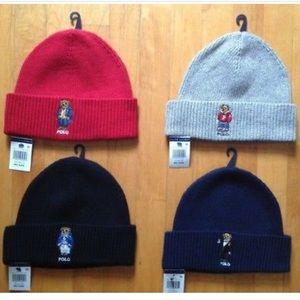 Polo Ralph Lauren Bear Beanie Winter Hat One Size